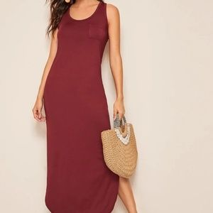 NEW Slip hem maxi tee dress